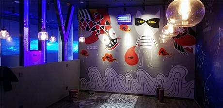 上海餐厅墙绘涂鸦AA 上海餐厅手绘墙画H-2
