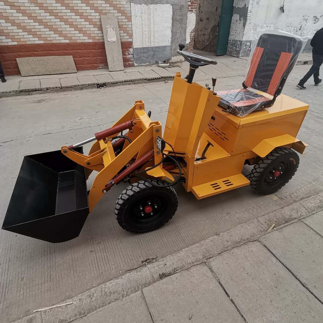 装载机小型电瓶铲车 矿山电动铲车装载机 微小型装载机迈吉机械