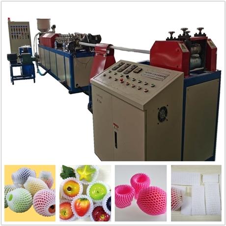 玫瑰花网套设备网套发泡机汇欣达HJD-WT75型网套机厂家