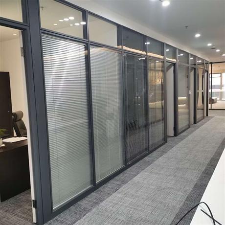 天津办公高隔间 钢化玻璃隔断 定制玻璃隔断价格