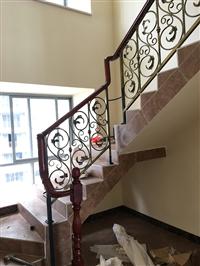 楼梯铁艺扶手 电焊工艺 辉达铁艺 厂家定制电话