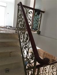 楼梯铁艺扶手 电焊工艺 辉达铁艺 厂家出厂安装