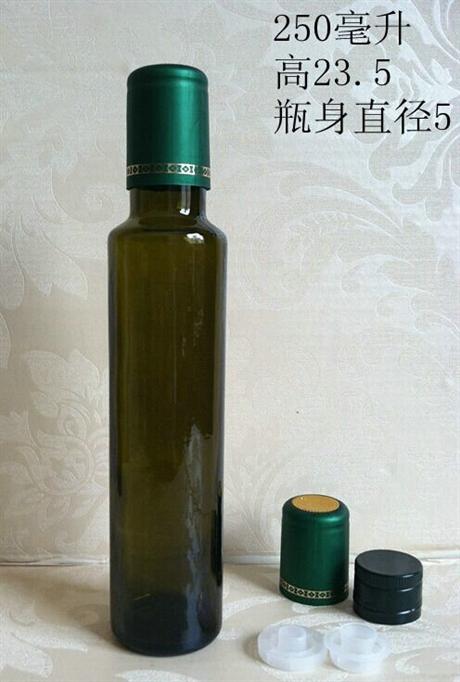 綠色橄欖油瓶茶油玻璃瓶方形圓形