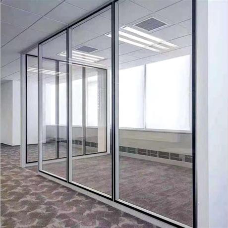 天津玻璃制品厂家 鲁班墙高隔间 铝合金玻璃隔墙
