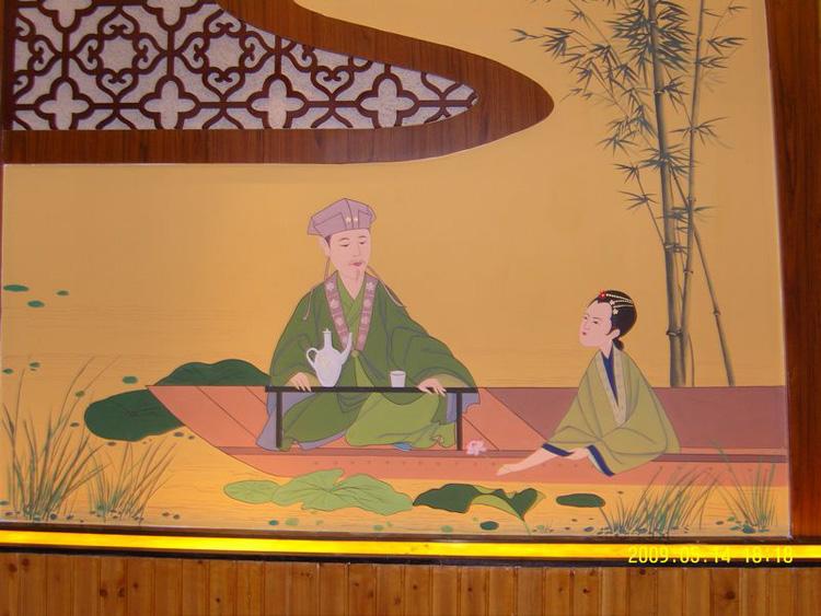 扬州酒店墙绘JD 扬州大包间酒店油画壁画 优质供应