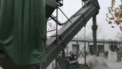 集改散输灰机厂内实验