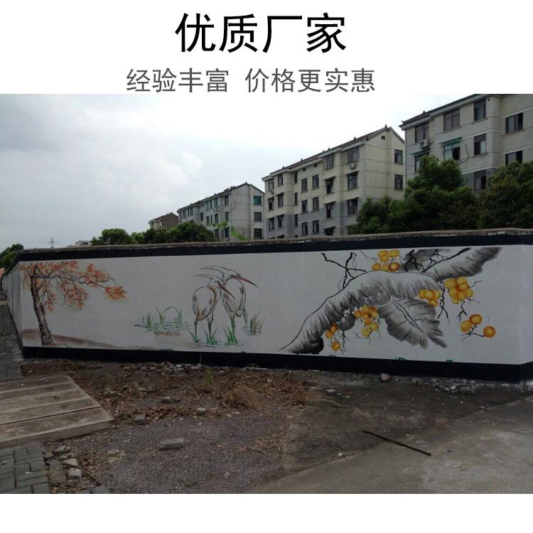 新视角党建文化墙墙绘DJ 扬州无气味学校文化墙墙体 唯美彩绘