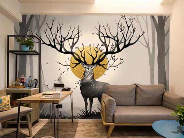别墅手绘壁画A 南京别墅墙绘油画 江苏墙绘公司 实力厂家