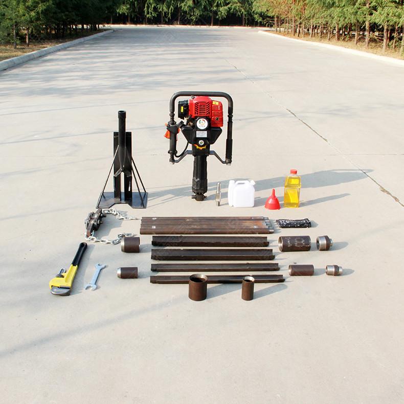 取原状土取土器 一人手持式土壤取样钻机 高频振动进尺快