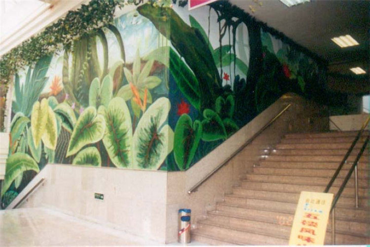 室内墙体彩绘 工装壁画墙绘公司 诚信厂家价格低