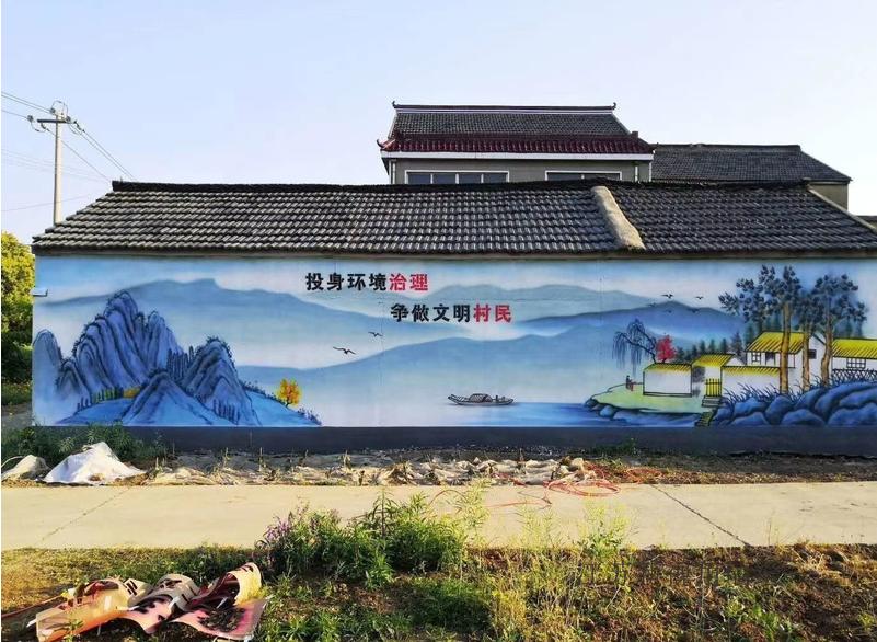 乡村文化墙手绘画 农村外墙壁画工作室 效果好防雨水