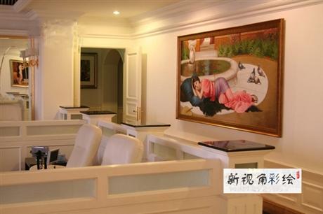 无锡酒店油画1 江苏酒店墙绘壁画厂家 纯手绘定制