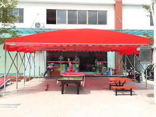 常州武进区移动推拉蓬 油布 雨篷和雨棚 推拉方便 灵活使用