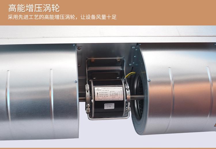 卧式暗装风机盘管机组带回风箱纯铜管纯铜电机三排水系统