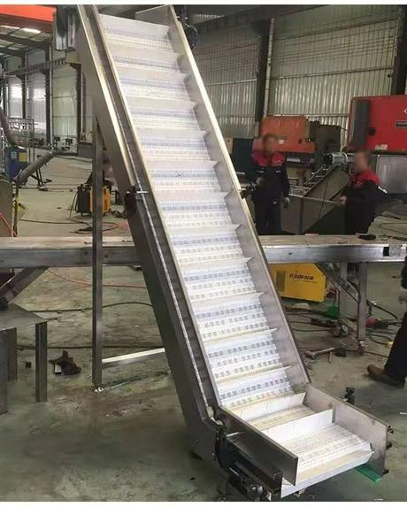 食品链板输送机-塑料链板爬坡输送机厂家定制