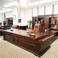 青岛老板桌 纯实木高端老板桌总裁桌子 现代简约风多功能老板桌