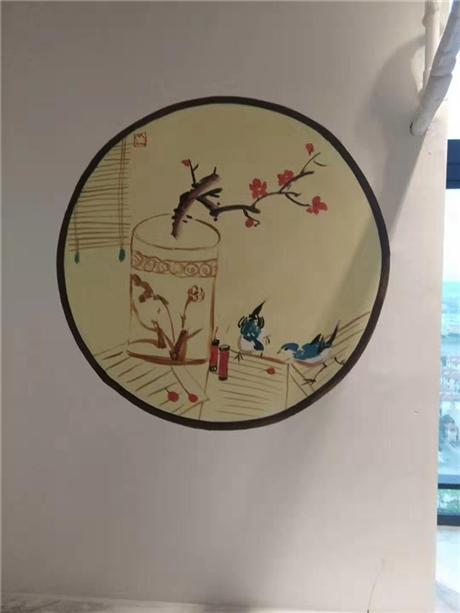 酒店公寓墙体彩绘 公寓走道房间墙绘 南京新视角厂家直供