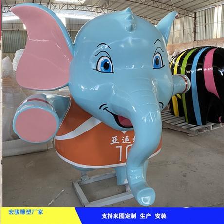 游乐园卡通雕塑 儿童卡通形象雕塑 宏骏玻璃钢卡通厂