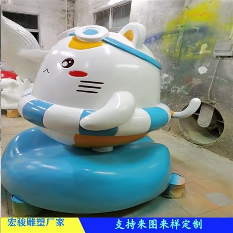 广州玻璃钢公仔雕塑造型 广场卡通雕塑 宏骏商场美陈