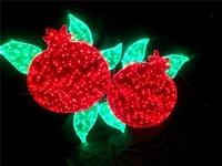春节街道装饰灯-节日亮化造型灯-凤凰造型灯-平安字样双环造型