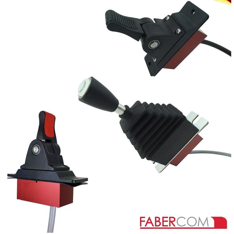 意大利FaberCom进口功率输出PWM单轴操纵杆