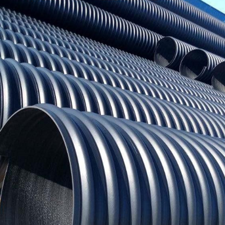 驻马店双壁塑料波纹管  确山hdpe黑色双壁波纹管 PE给水管