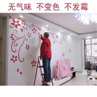 简单电视背景墙墙绘 丹桂园家装墙绘 南京墙绘公司 室内软装