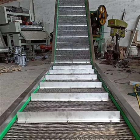 不锈钢网链爬坡机-食品速冻网链爬坡输送机厂家