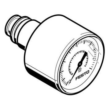 费斯托FESTO 压力表,QSP.10,0至1.6Mpa,PAGN-26-1.6M-P10,563735  PAGN-26-1.6M-P10,563735