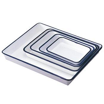 亚速旺 进口搪瓷盆,六开纸,320×245×40mm  5-176-03