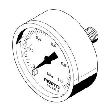 费斯托FESTO 精密压力表,MA-63-1-1/4-EN,162844  MA-63-1-1/4-EN,162844
