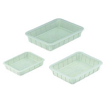 亚速旺 进口塑料方筐(浅型),中,295×390×70  7-5649-02