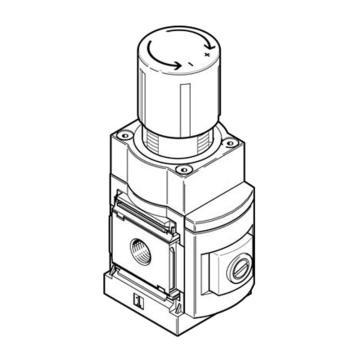 费斯托FESTO MS-LRP精密减压阀,MS6-LRP-1/2-D7-A8,538026  MS6-LRP-1/2-D7-A8,538026
