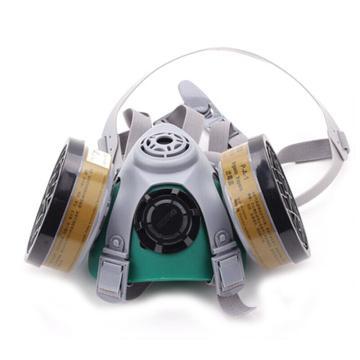 世达 SATA 双滤盒半面罩,HF0414 双滤盒四阀半面罩 HF0414