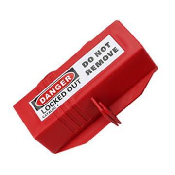 安赛瑞 插头安全锁具,65×65×118mm,聚丙烯材质,红色,37047  37047