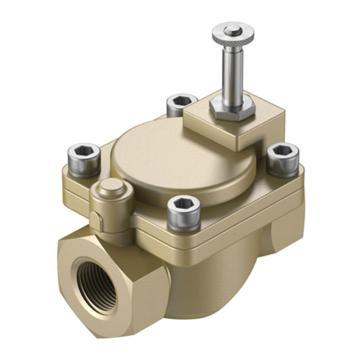 费斯托/FESTO两位两通电磁阀,强制先导工作,常闭,VZWM-L-M22C-G2-F5,546153  VZWM-L-M22C-G2-F5,546153