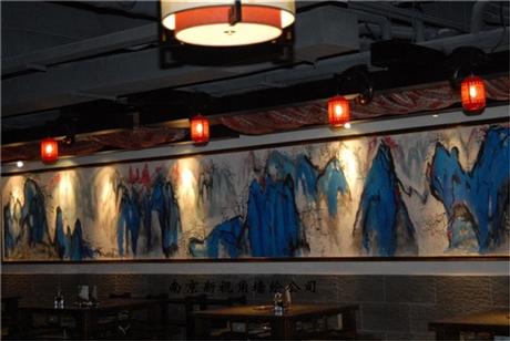 南京餐厅墙绘c2 长副墙体手绘壁画 上海江苏上门服务