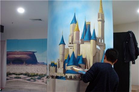 儿童乐园墙绘 儿童乐园墙体彩绘 南京新视角墙绘公司