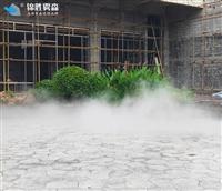 人工造雾水景水雾设备架设