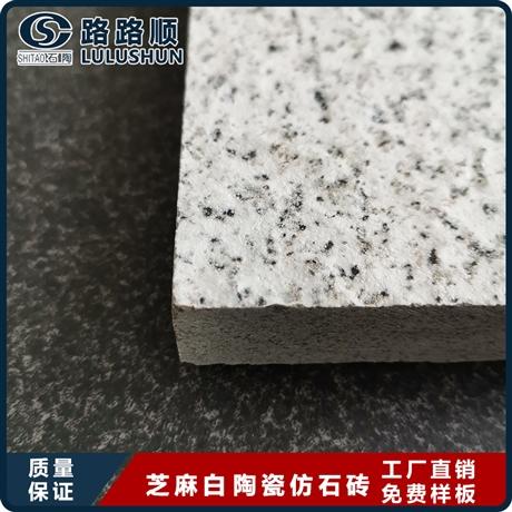 珠海仿芝麻黑荔枝麵陶瓷PC磚一平方米價格  量大價優