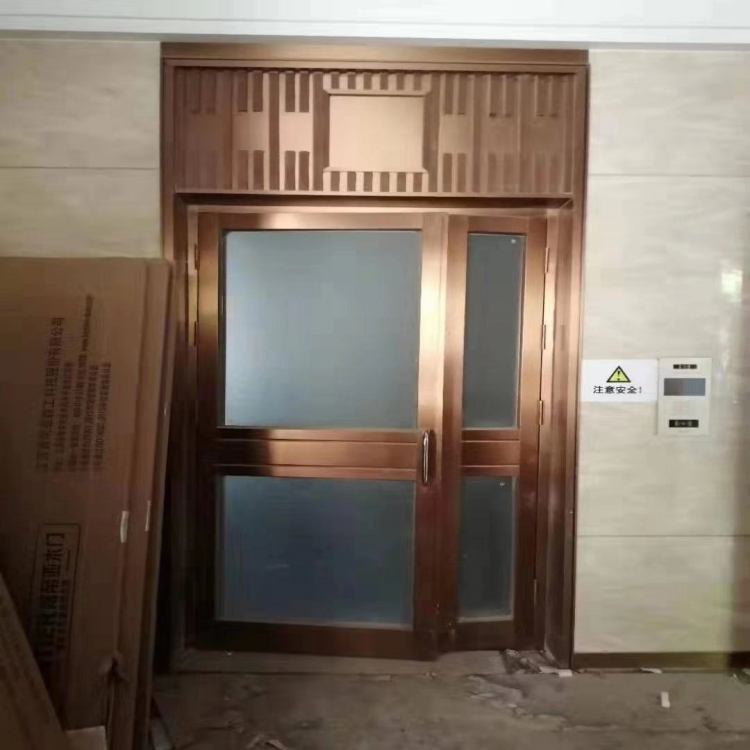 铜陵氟碳喷涂单元门 小区单元门厂家