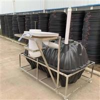 驻马店一体塑料三格化粪池厂家  三格式化粪池接管子图