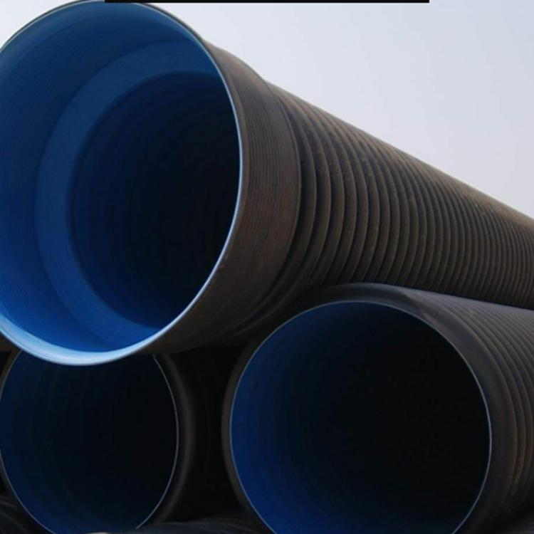 河南波纹管碳素加厚波纹管黑色塑料波纹管