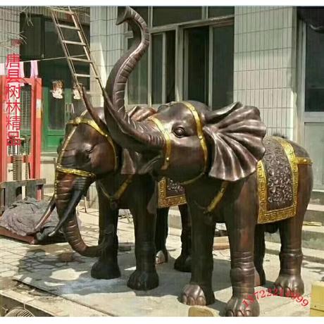 铜大象定做 河北铸铜大象生产厂家