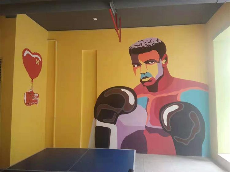 培训机构简单墙绘 南京墙体手绘 彩绘涂鸦工作室
