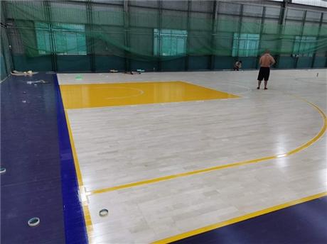 体育场馆运动木地板的组成以及施工