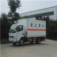 国六解放5.2米厢式杂项危险品运输车,J6驾驶室,可载货7吨不超载