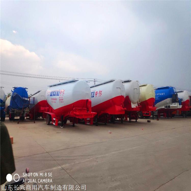 散装水泥厂家  下灰半挂车价格 粉罐车生产厂家