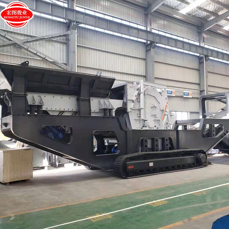 150吨石料生产线 1214反击式破碎机 惠州移动破碎机