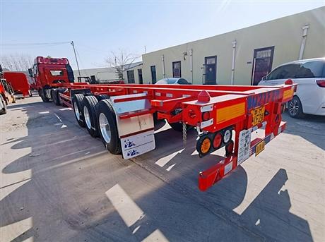 13.95米危险品骨架半挂车13米骨架拖挂车15米集装箱运输车配置